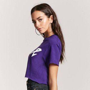 Prince Tops - Prince • Purple Crop T-Shirt || XL